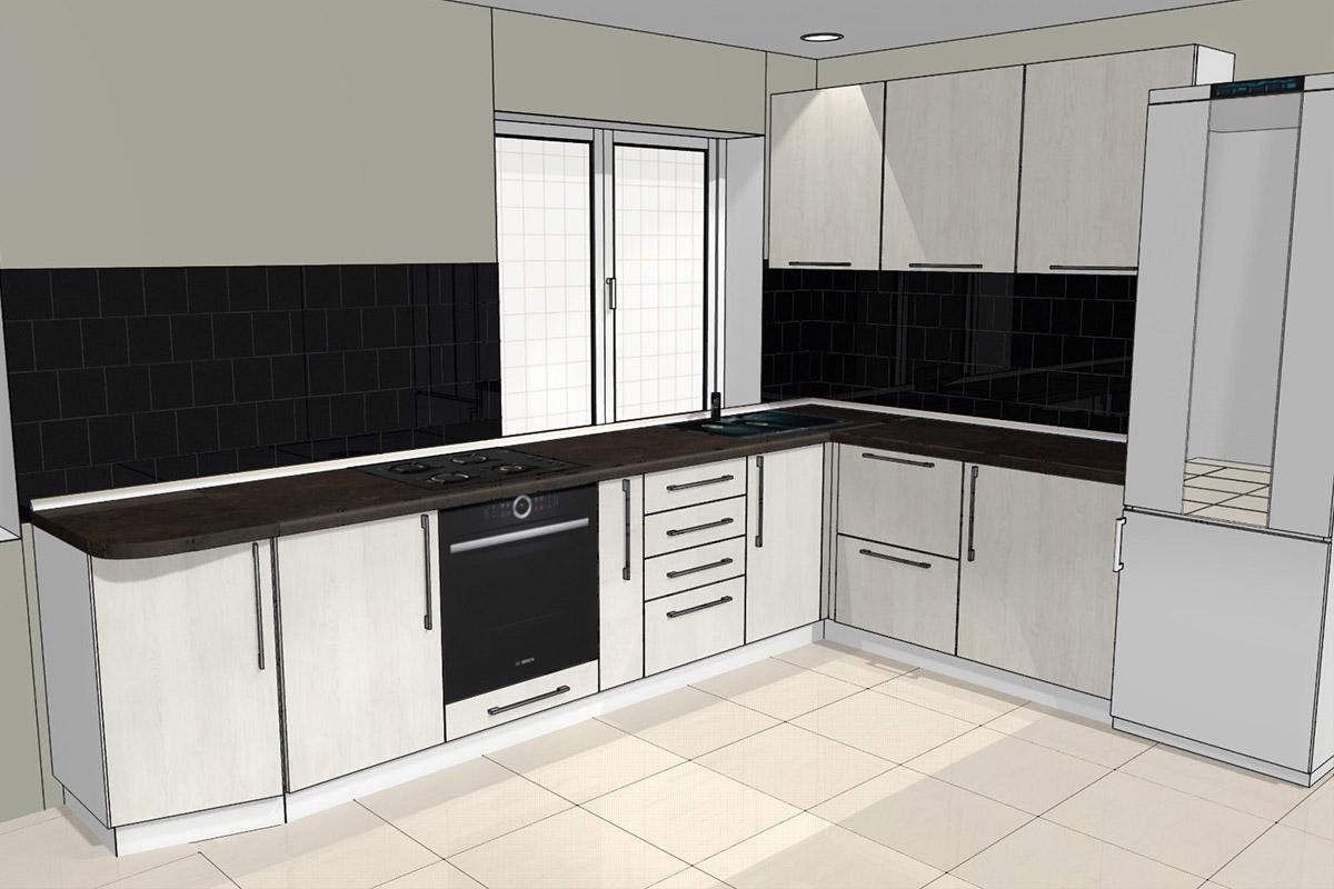 Проект угловой кухни на заказ до